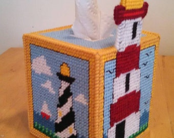 Lighthouse Tissue Box Cover
