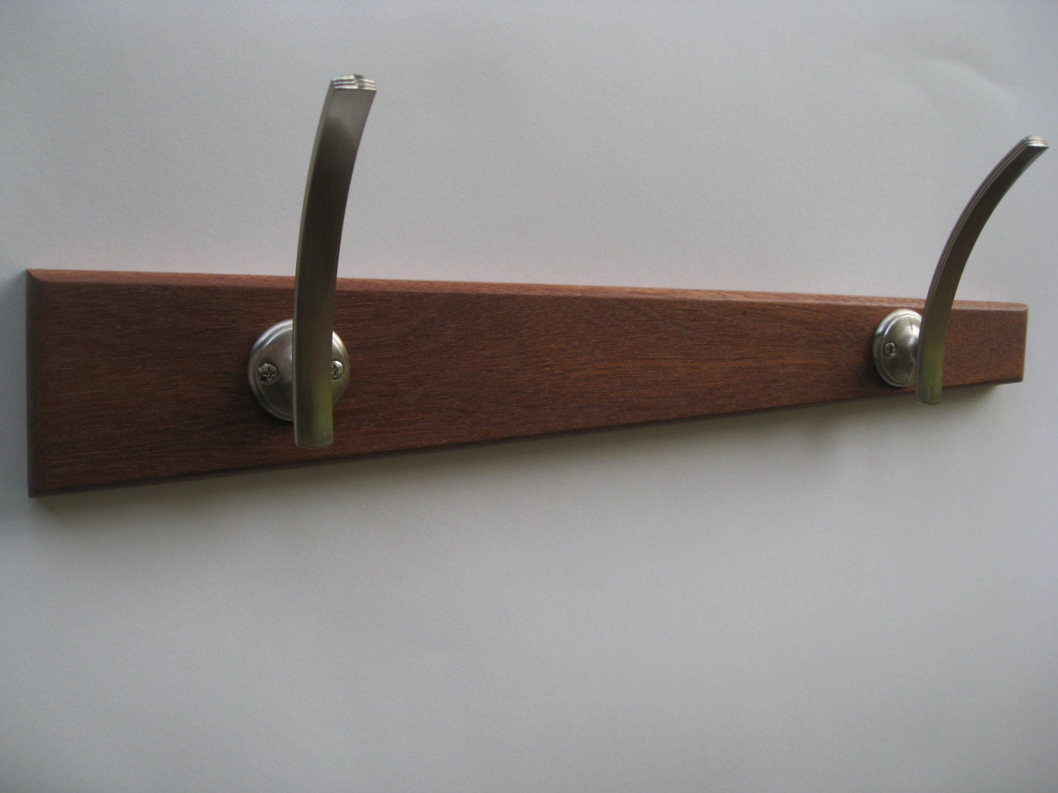 Modern coat rack wall hanging coat rack by recovered design for Contemporary coat hooks