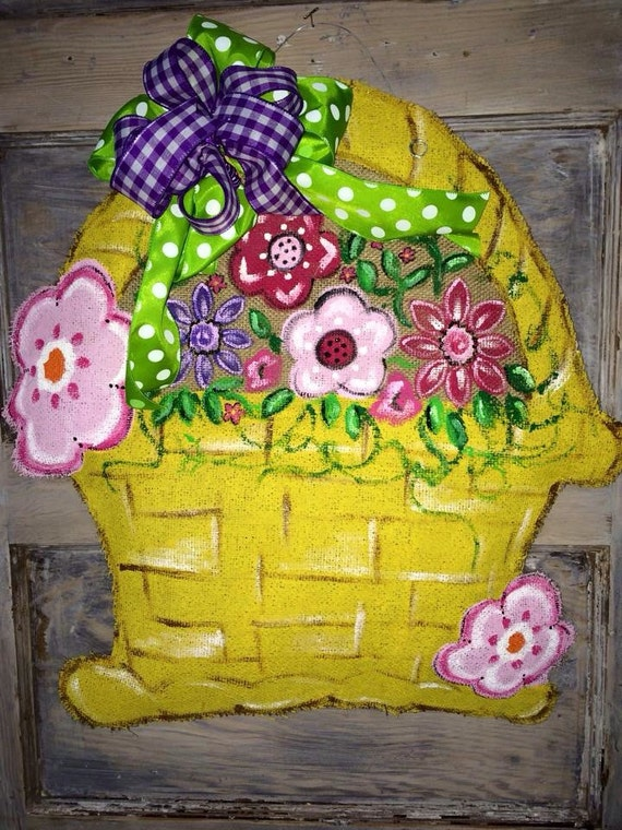 how to make flower basket hanger