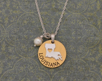 Louisiana Love Necklace with Pearl Accent