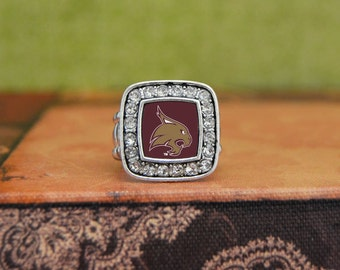 Texas State Bobcats Square Stretchy Ring