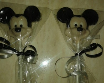 20 Mickey Mouse Chocolate Lollipop Favor