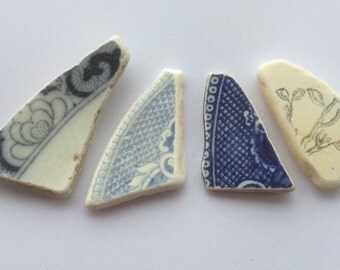 Pretty Triangles of Sea Pottery SP 14.4.15.3