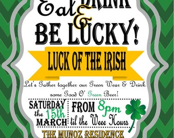 Saint Patricks Day Adult Invitations