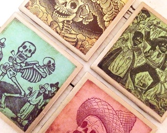 COASTERS!! Day of the Dead Coasters with Gold Trim