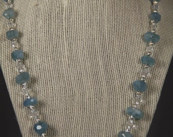 Aquamarine Necklace take 25% off!