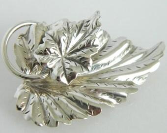 Wonderful Danecraft Sterling Silver Leaf Brooch