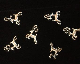 Six Metal Deer Charms