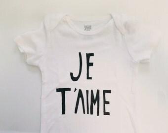 Baby Bodysuit- Je T'aime