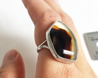 Sterling Silver Montana Agate Ring