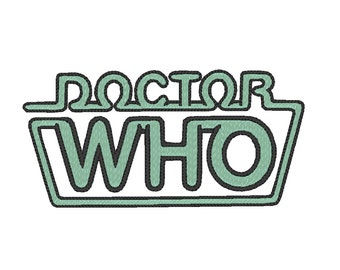 Doctor Who Logo Embroidery Design Pattern for Machine 80s classic vintage peter davison geek sci-fi dr who pipe tv cult