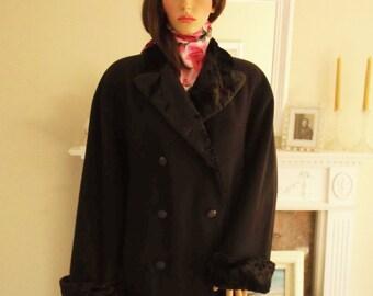 Dark brown coat   Etsy