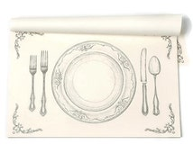 Paper Placemat Pack - Perfect Setting Pattern