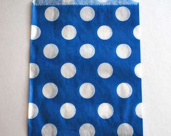 Blue Polka Dot Favor Bags