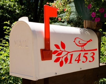 Birdie Love  Mailbox Decal