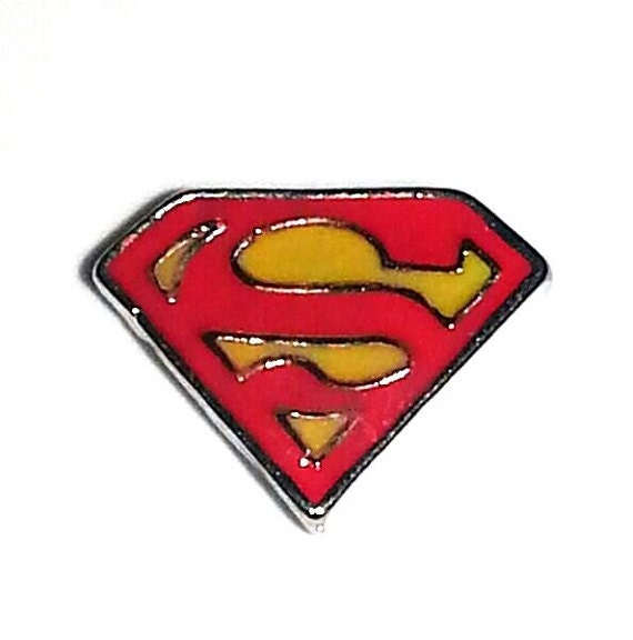 superman floating charm by customjewelrybygg on etsy