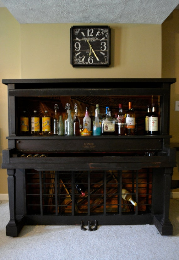 Items Similar To Salvaged Ghost Piano Turned Wine Or