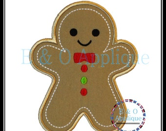 Gingerbread Embroidery Design - Gingerbread Boy Applique Design - Gingerbread Applique - Christmas Applique Design - Christmas Embroidery