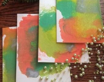 Wax Print Hand-Made Art Notecards