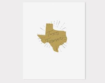 8 x 10 | texas forever print
