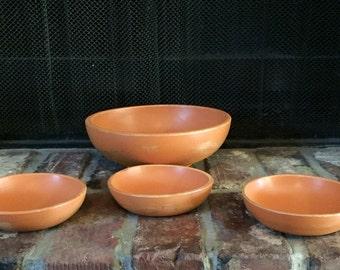Shabby Chic Decor, Shabby Chic Bowls, Housewares, Orange Bowls, Orange Shabby Chic