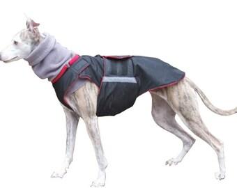 Dog Raincoat + neck warmer - Dog Jacket - Custom Dog Coat - Waterproof Dog Coat - Dog Rain Coat - Custom made + turtleneck