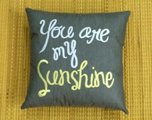 30 Off Valentine Sale You Are My Sunshine Pillow Cushion