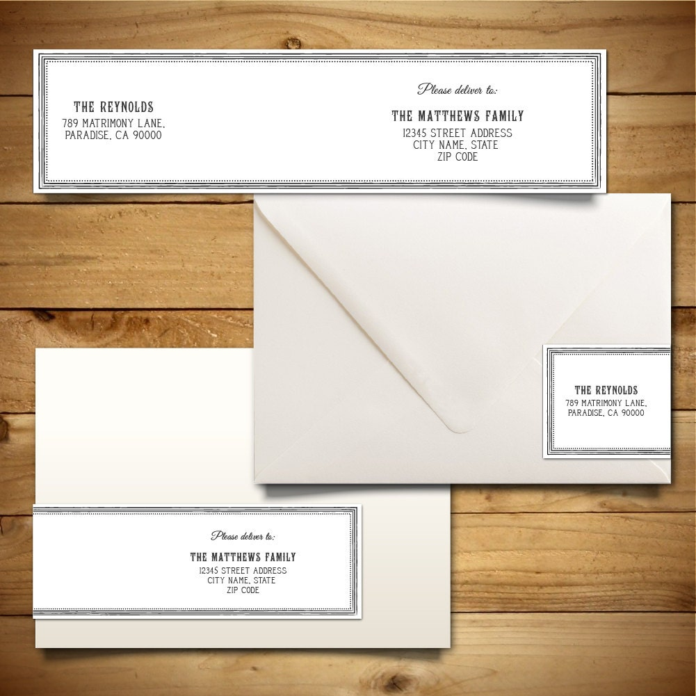 Printable Wrap-Around Address Label Template For A7 Envelopes
