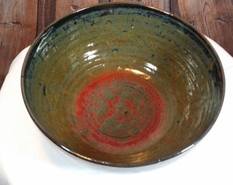 Handcrafted Stoneware Pottery Bowl