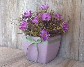 Purple & Lavender Pot of Flowers