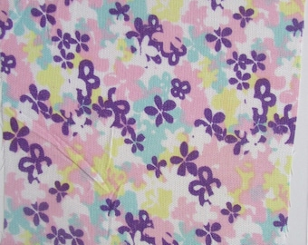 Soy Fiber Fabric, Small Floral Print, Pink, Purple, White, Soyabean Yarn, GOTS Dyes, Vegan Friendly, Soyabean Fabric, Speciality Fabric