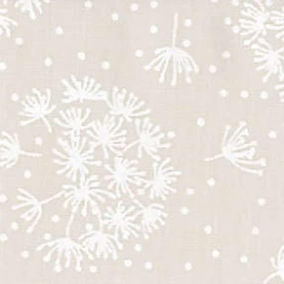 White Dandelion on Cream Fabric-Tone on Tone-Dandelion : white tone on tone quilt fabric - Adamdwight.com