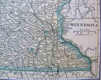 Vintage Map of Minnesota from 1935