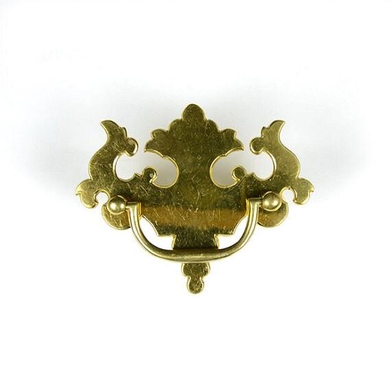 Chippendale Hardware Sand Cast Brass Drawer Pulls Antique