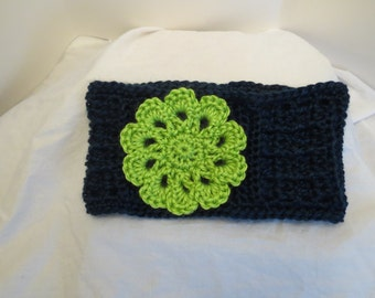 Blue and Green Flower Earwarmer