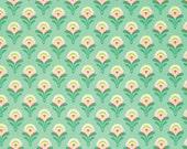 CLEARANCE - 1/2 Yard - Heather Bailey / CLEMENTINE / Buttercup in Jade / Polka Dot / Free Spirit Fabrics - Half Yard