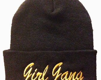 Girl gang beanie, girl gang hat
