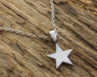 Silver Star Necklace - Silver Star Pendant - Silver Star Charm - Star Charm Necklace - Celestial Necklace - Sterling Silver Necklace
