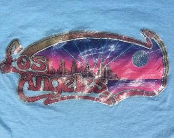 Vintage 70's Los Angeles Iron On Womens Tshirt