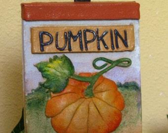 Handmade pumpkin outdoor garden marker