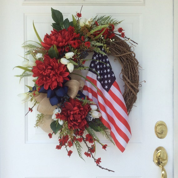 Patriotic Wreath Americana Wreath American Flag