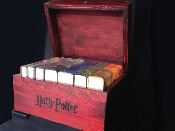 Harry Potter Hardcover Book Set : Items similar to harry potter handmade wooden trunk books