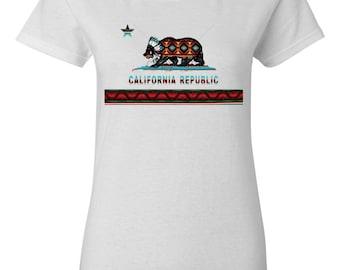 California Ladies Shirt West Coast California Shirt for Women California West Coast Shirt California Republic Size S- 2XL