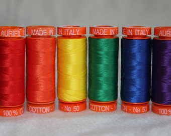 Aurifil Rainbow Collection - Mako 50w quilting and sewing thread