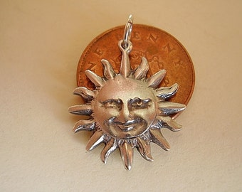 Sterling Silver Sun Sterling Silver Charm