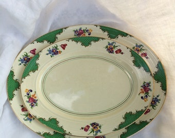 Booths Ribstone Ware Platters 1930's