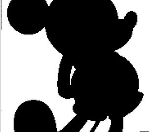 Mickey Mouse Silhouette Crochet Graphghan Pattern