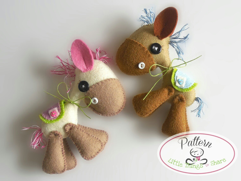 Donkey ornaments - Horsy Pdf Sewing Pattern Diy Felt Horse Toy Pattern Nursery Decor Instant