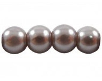 Czech Glass Pearl - 8mm - Silver Grey - Pack 20