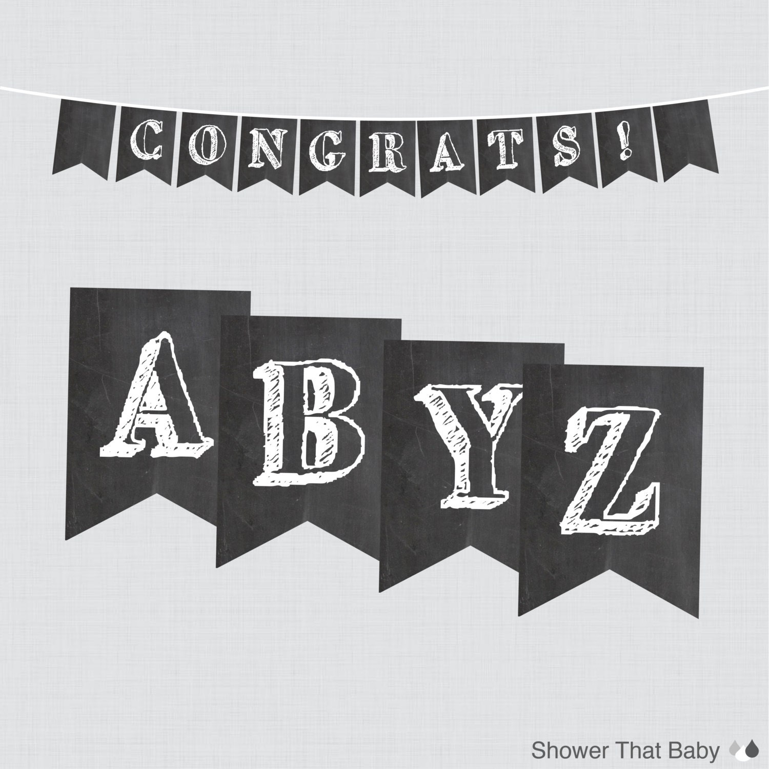 This is a graphic of Sly Printable Chalkboard Letters